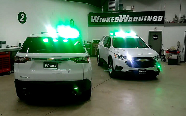 Green LED strobe lights